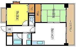 プロスペールアビコ[2階]の間取り