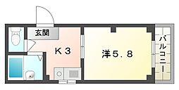 エクセルハウス[4階]の間取り
