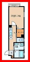 東京都文京区西片2丁目の賃貸アパートの間取り