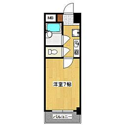 第16長栄アーバンハイツ五条[6階]の間取り
