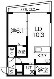 北海道札幌市北区北十七条西1の賃貸マンションの間取り