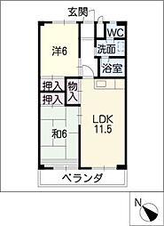 アビタシオン酒井[4階]の間取り