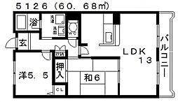 メゾン・ドゥ・ボヌール[405号室号室]の間取り