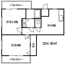 兵庫県神戸市灘区岸地通3丁目の賃貸マンションの間取り