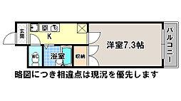 京都府京都市北区小山北大野町の賃貸マンションの間取り