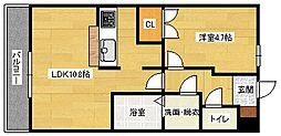 広島県広島市安佐南区伴中央2丁目の賃貸アパートの間取り
