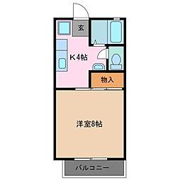 ベルハイツC棟[2階]の間取り