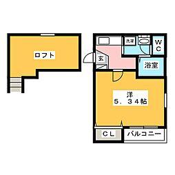 アバター博多駅イーストテラス[1階]の間取り