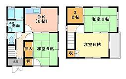 [一戸建] 広島県福山市大門町1丁目 の賃貸【/】の間取り