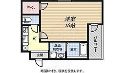 JR東海道・山陽本線 兵庫駅 徒歩10分の賃貸アパート 3階1Kの間取り