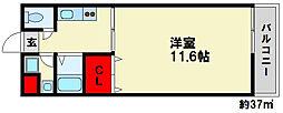 ジーニアス金堂[3階]の間取り
