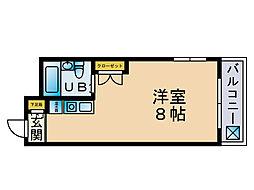 ハッピーエステートモア大濠[2階]の間取り