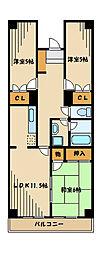 神奈川県相模原市南区上鶴間本町9丁目の賃貸マンションの間取り
