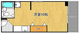 プレジデント武庫之荘[5階]の間取り