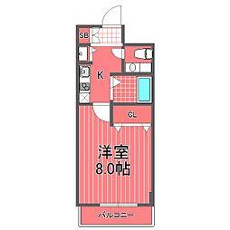 ロリエタワー川崎[5階]の間取り