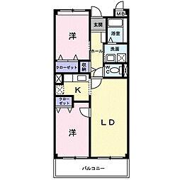 リオン・ツインズI[3階]の間取り