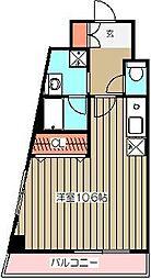 88TEES立川[5階]の間取り