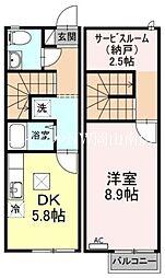 JR山陽本線 岡山駅 バス40分 福吉町下車 徒歩3分の賃貸テラスハウス 1階1DKの間取り