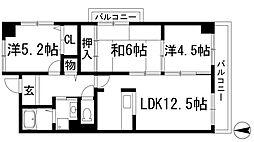 メゾンドール宝塚[4階]の間取り