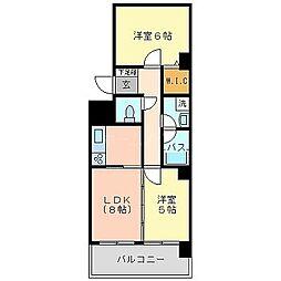 エコノ桜坂8[10階]の間取り