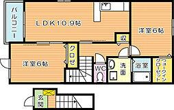 プリムローズ本城 A棟[2階]の間取り