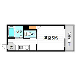 大阪府大阪市城東区中央1丁目の賃貸マンションの間取り
