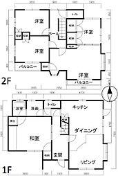 [一戸建] 岡山県岡山市北区東古松3丁目 の賃貸【/】の間取り