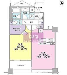 東急ドエル・アルス桜木町博物館通り[3階]の間取り