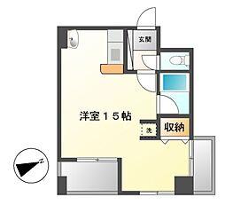 YK50[3階]の間取り