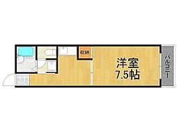 兵庫県西宮市平木町の賃貸アパートの間取り