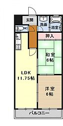 パルフェマンション[105号室号室]の間取り