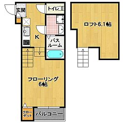 香椎エリア 新築アパート[1階]の間取り