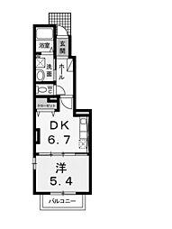 クワイエットハイツ[1階]の間取り