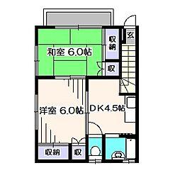 東京都西東京市泉町5丁目の賃貸アパートの間取り