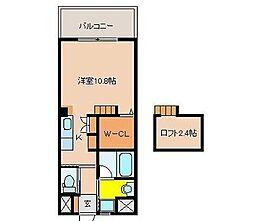 宮崎県宮崎市大工2丁目の賃貸マンションの間取り