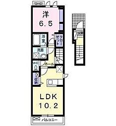 岡山県総社市総社3丁目の賃貸アパートの間取り