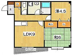 第3杉山ビル[206号室号室]の間取り
