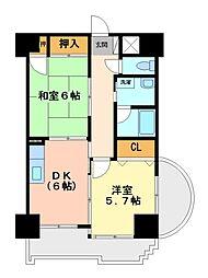 栃木県宇都宮市海道町の賃貸マンションの間取り