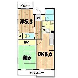 二俣川ハイツ[1階]の間取り