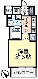 グランヴァン横濱反町 7階1Kの間取り