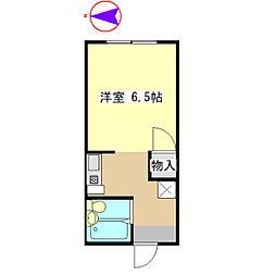 NOAHIII 1階ワンルームの間取り