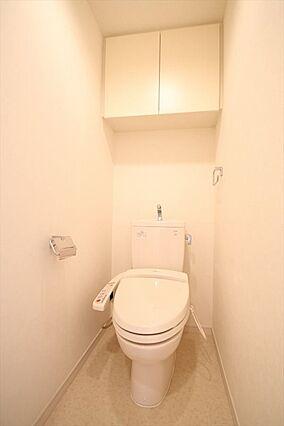 トイレも白で統...