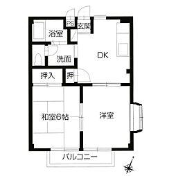 フォブールMOW[2階]の間取り