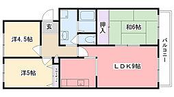 阪神浜甲子園マンション[1階]の間取り