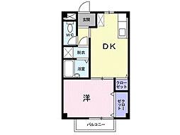 シーズ桜A[1階]の間取り