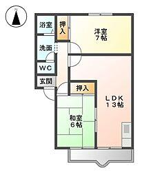 ヴィラ吉田[2階]の間取り