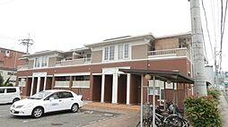 和歌山県紀の川市中三谷の賃貸アパートの外観