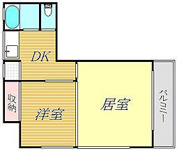 メゾンマキノ[3階]の間取り