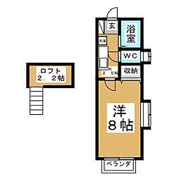 クレセール南吉成弐番館[2階]の間取り
