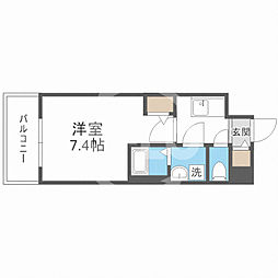 サムティ福島Rufle(ルフレ) 5階1Kの間取り